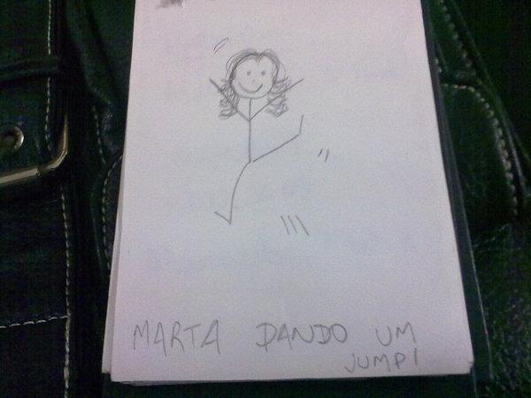 juliana-Marta dando um Jump