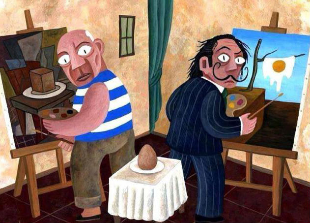 picasso-vs-dali-painting-an-egg
